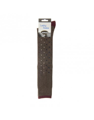 Jorigu sock high brown topitos colors