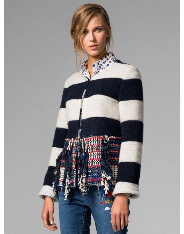 Vilagallo chaqueta combinada rayas