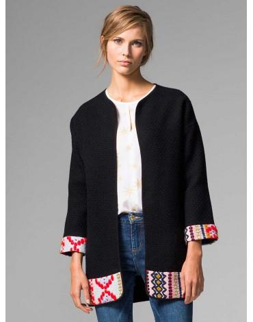 Vilagallo chaqueta negra combinada