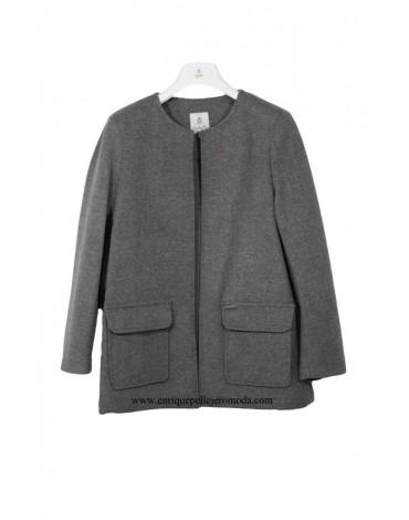 El Caballo chaqueta abierta gris