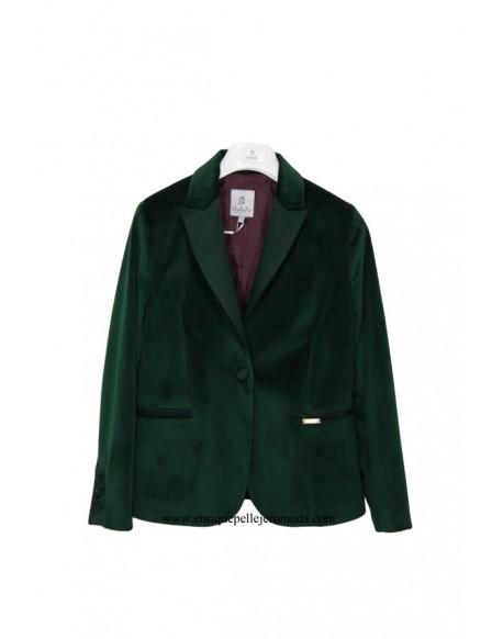 El Caballo chaqueta terciopelo verde
