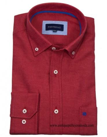 Pertegaz camisa sport color teja