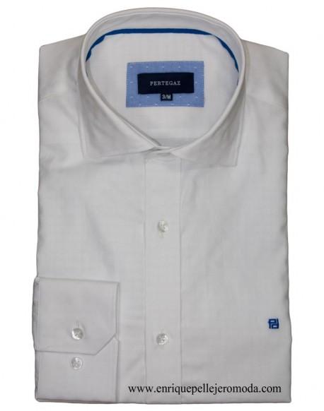 Pertegaz Camisa Vestir Blanca Círculos Compra Online Camisa Pertegaz