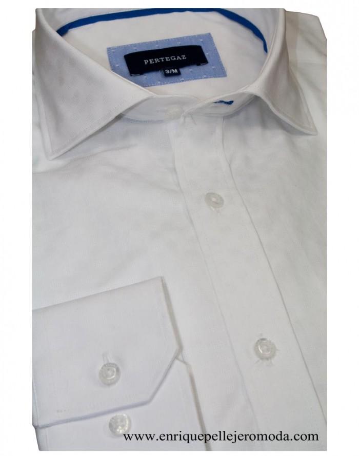 Pertegaz Camisa Vestir Blanca Círculos Compra Online Camisa