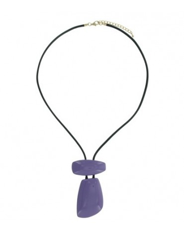 Purple long necklace