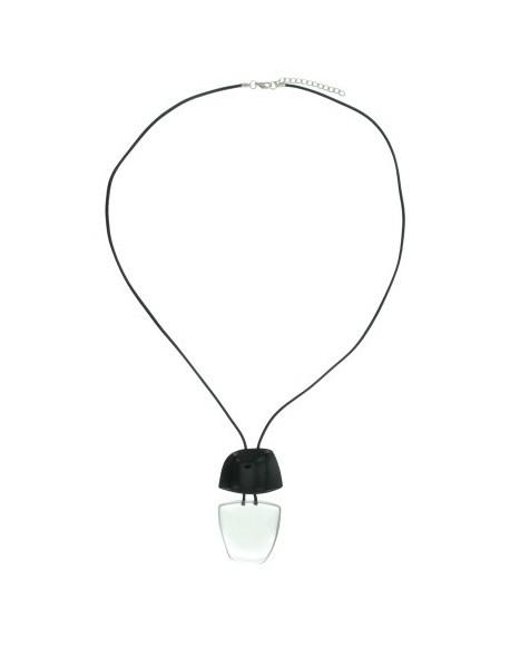 Black long necklace