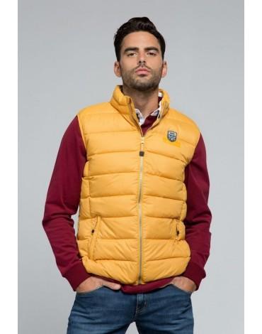 Valecuatro quilted mustard vest