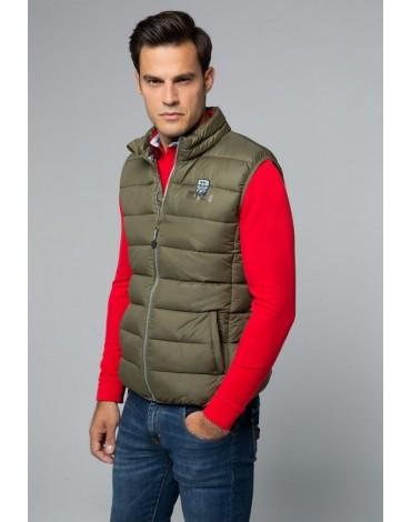 Valecuatro green quilted vest