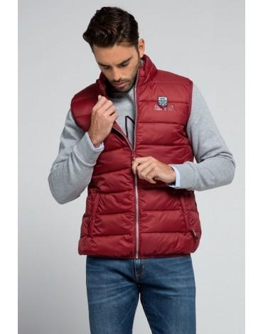 Valecuatro garnet quilted vest