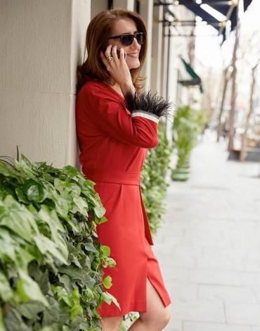 Vilagallo vestido rojo fiona red kn