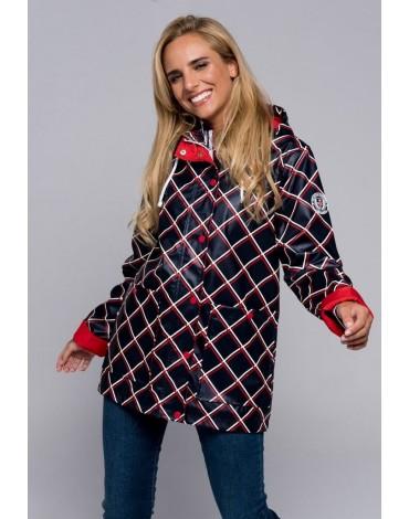 Valecuatro chaqueta impermeable tartán