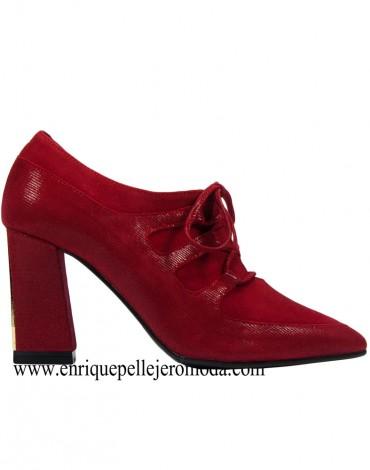 Daniela zapatos abotinados rojos