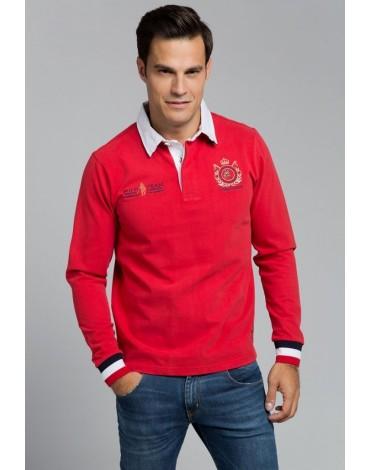 Valecuatro polo rojo rugby polo team