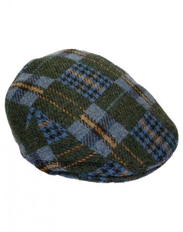 Gorra cuadros verdes y azules