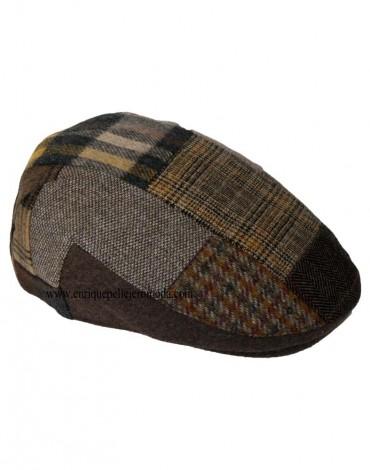 Brown patchwork cap