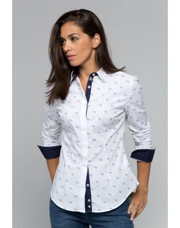 Valecuatro camisa blanca cebras