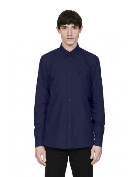 Fred Perry camisa Oxford azul