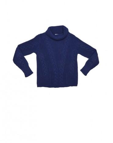 MdM jersey cuello vuelto azul