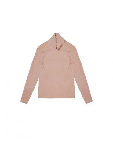 MdM jersey cuello alto rosa
