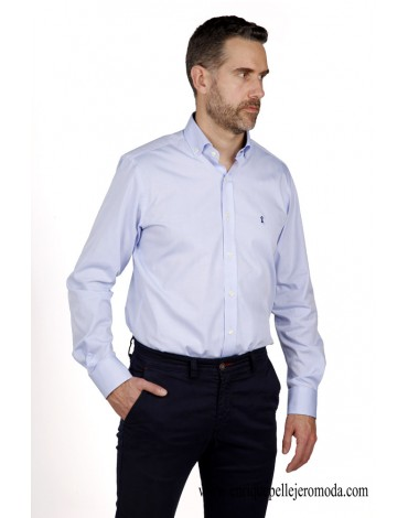 Camisa celeste sport Enrique Pellejero