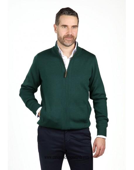 Pertegaz chaqueta cremallera verde