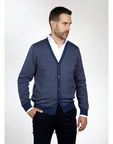 Pertegaz chaqueta botones azul dibujo
