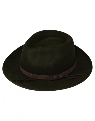 Sombrero verde de lana