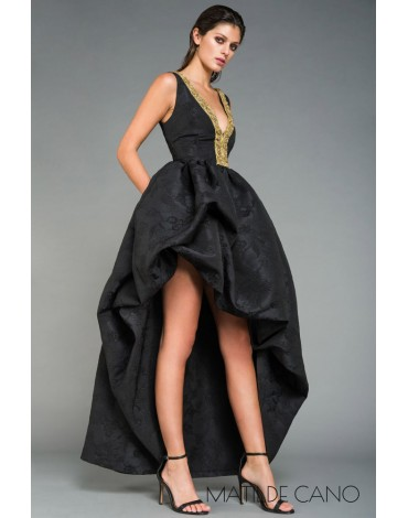 Matilde Cano vestido adamascado largo