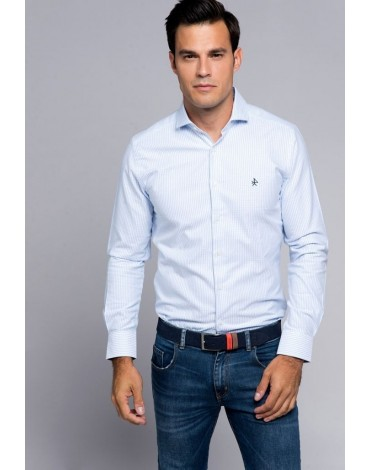 Valecuatro camisa Oxford italiano celeste