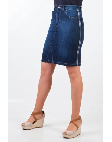 Waltron denim skirt