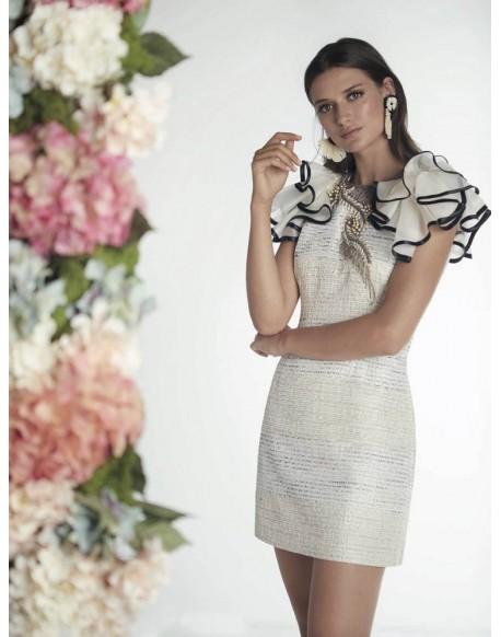 Matilde Cano vestido corto volantes Compra online Matilde Cano verano b1c2ebfb7199