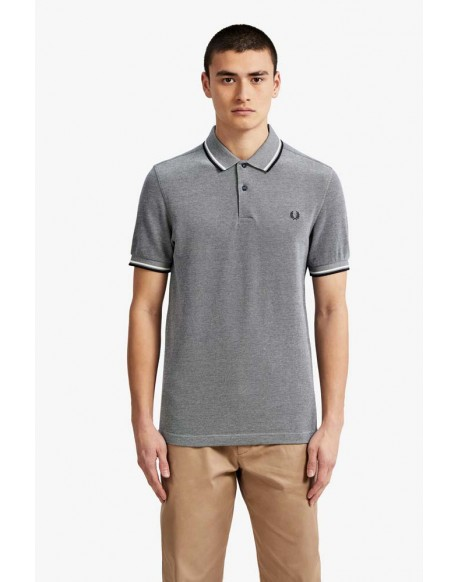 Fred Perry carbon blue polo shirt with stripes