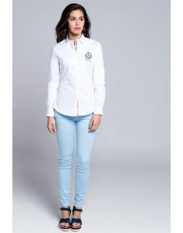 Valecuatro camisa blanca mujer básica