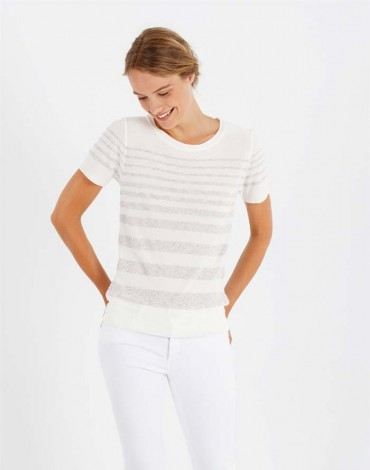 Escorpion striped sand sweater