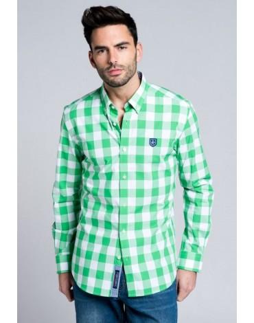 Valecuatro green plaid shirt