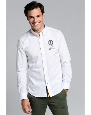 Valecuatro white handicap shirt