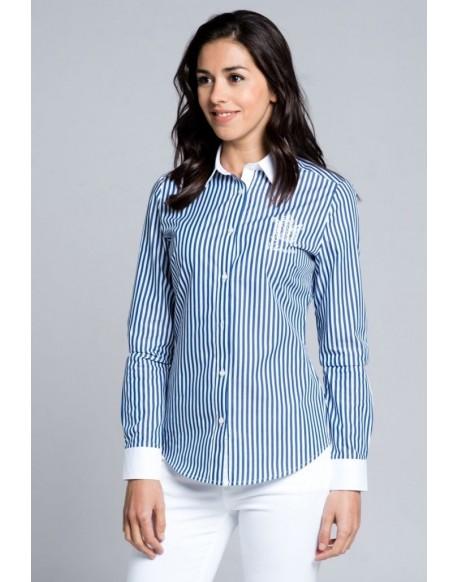Camisa rayas azul marino