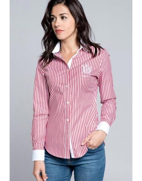 Valecuatro red striped shirt