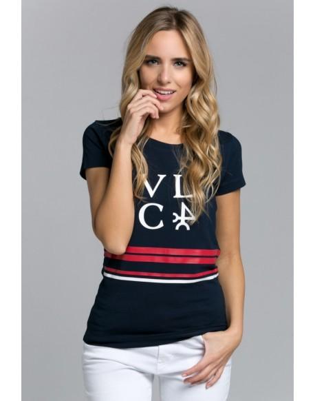 Valecuatro navy blue VLC T-shirt