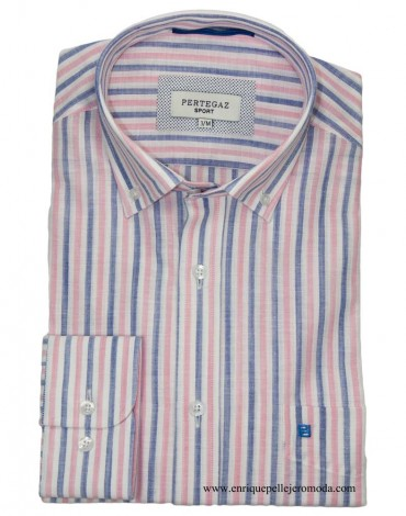 Pertegaz camisa sport rayas rosas