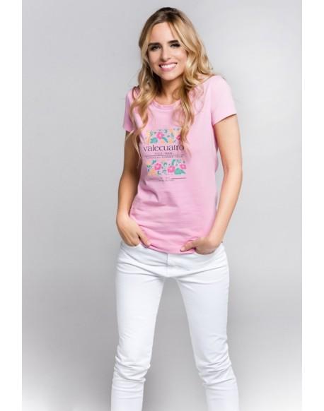 Valecuatro t-shirt flowers pink