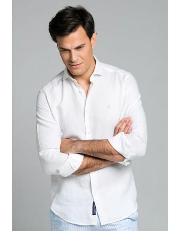 Valecuatro white linen shirt