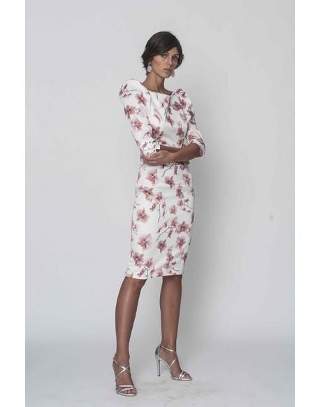 Margarita Muñoz printed dress lilies