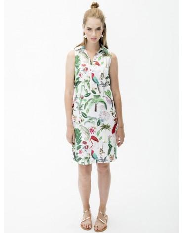 Vilagallo vestido cassie tropical vintage