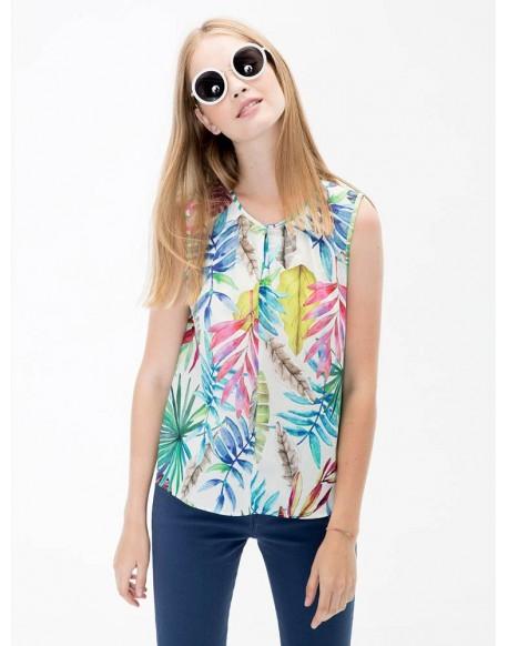 Vilagallo camisa Edna samoa print
