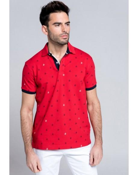 Valecuatro polo shirt logos red