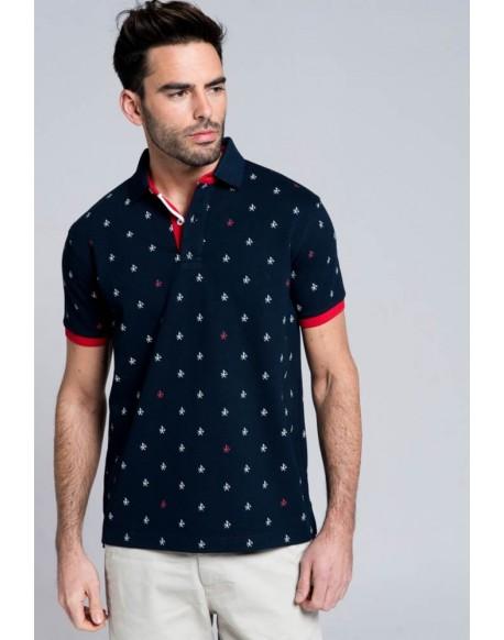 Valecuatro polo shirt logos navy blue