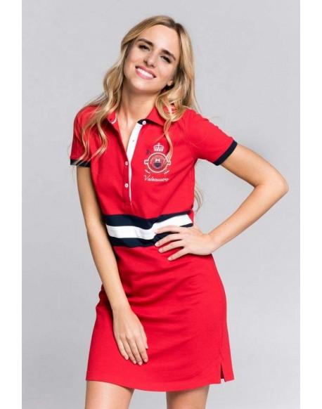 Valecuatro vestido bandera rojo
