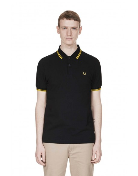 Fred Perry polo manga corta negro