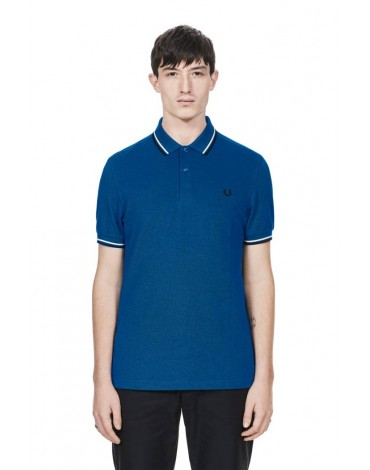 Fred Perry blue polo shirt short sleeve